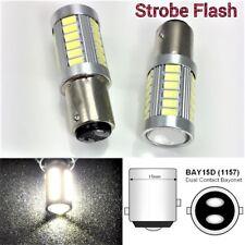 6000K White Strobe Brake Light 1157 2057 3496 BAY15D P21/5W 33 LED Bulb B1 #1