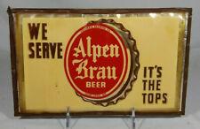 Scarce Old Alpen Brau Beer Back Bar Sign Columbia Brewing St Louis Missouri MO