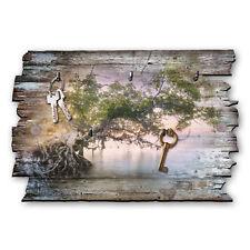 Zauberbaum Schlüsselbrett Hakenleiste Landhaus Shabby chic aus Holz 30x20cm