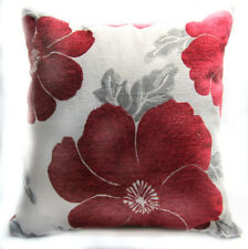 Wb10Aa Red Daisy Flower Chenille Throw Cushion Cover/Pillow Case Custom Size