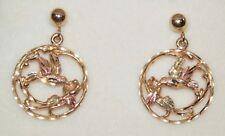 Black Hills Gold 10kt and 12kt Gold Hummingbird Earrings