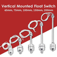Stainless Steel Water Tank Vertical Float Switch Liquid Sensor Level Controller