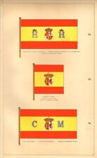 SPANISH STATE/MARITIME FLAGS. Finance/Treasury.Marine Minister.Mail Vessels 1873