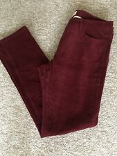 Toast Cranberry Straight Leg Cord Trousers Size 14