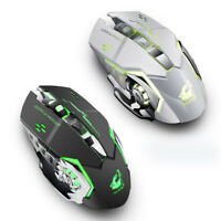 Rechargeable Wireless Silent Backlit USB Optical Gaming Mouse For PC Laptop New