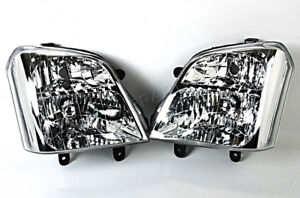 Headlights Front Lamps PAIR Fits Isuzu D-Max 2002-2006