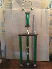 "Beautiful Boxing Trophy 3 Post Huge Just Under 43� Tall Man Cave Den ""L@K�!"