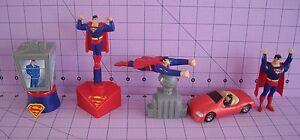 Superman Figurines Burger King 1997 DC Sealed Clark Kent Lois Lane Daily Planet