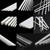 5 x ABS Styrene/Acrylic Strip Tube Stick Angle Model Building Craft Architecural
