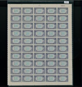 1943 United States Postage Stamp #916 Greece Mint Full Sheet