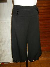 Pantacourt polyester noir stretch SUD EXPRESS 42 bouffant bas elastique 19AO4