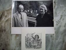 Bruce Hungerford Friedelind Wagner Photo and Friedelind Autographed Card