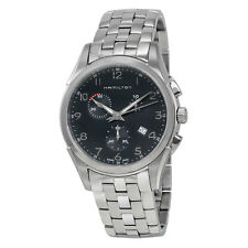 Hamilton Jazzmaster Thinline Chrono Black Dial Mens Watch H38612133