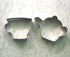 Tea cup teapot fondant pastry baking metal stainless sreel cookie cutter set
