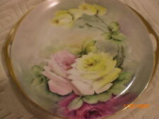 rosenthal donatello bavaria handled plate sign park roses 11 3/4 in