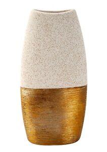 Moderne Dekovase compas Tischvase Vase de céramique blanc//argent Hauteur 20 cm
