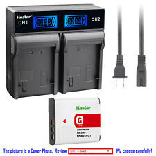 Kastar Battery LCD Rapid Charger for Sony NP-BG1 Sony Cyber-shot DSC-H50 Camera