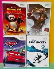 Cars, Epic Mickey, Kung Fu Panda, Pirates of - Nintendo Wii / Wii U Disney Games
