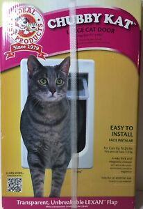 """Chubby Kat Large Cat Door-Transparent, Unbreakable Flap Size 7 1/2"""" x 10 1/2"""""""