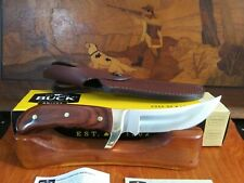 NEW BUCK 401 KALINGA KNIFE. 401RWS-B ROSEWOOD HANDLE BURGUNDY LEATHER SHEATH