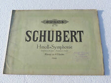 Partition ancienne SCHUBERT Hmoll Symphonie No 768 Editions Peters ref 454R