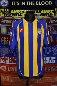5/5 Arka Gdynia adults XL 2004 lotto MINT rare home football shirt trikot soccer