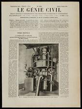 1909, Condensateur Westinghouse-Leblanc de la machine d'extraction