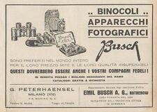 Z1859 Apparecchi Fotografici BUSCH - Pubblicità d'epoca - 1929 Old advertising