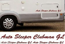 AUTO SLEEPER CLUBMAN GL 4 PIECE KIT DECALS STICKERS CHOICE OF COLOURS & SIZES