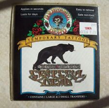 Vintage Grateful Dead Temporary Tattoos - Panther - BRAND NEW !
