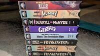 HORROR Abbott & Costello VHS Lot Of 8 Universal Monsters Frankenstein Mummy cult