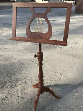 New listing Vintage Mid Century Modern Wood Brass Accent Quality Music Stand