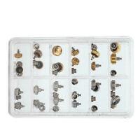 Assorted 40pcs Waterproof Watch Crown Spare Parts Silver Golden Watch Repairing