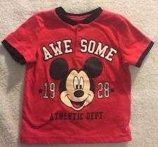"Disney Baby ""Awesome"" Mickey Athletic Dept.1928 Shirt Size 24 Mo."