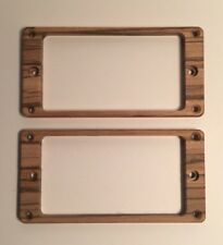 Guilford Zebrawood pickup ring set for PRS guitar- Flat Recessed Height Holes
