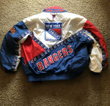 Vintage Pro Player New York Rangers Zip Up Jacket Size Large Logos Very Rare