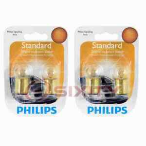 2 pc Philips License Plate Light Bulbs for Ford Country Sedan Country Squire hv