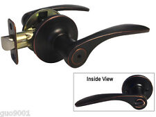 Privacy Dark Oil Rubbed Bronze Lever Handle Door Lock bedroom bathroom 836DBR
