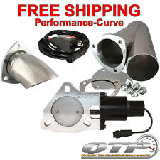 "QTP Quick Time Performance 3"" Electric Exhaust Cutout Kit - QTEC30CPSK1"