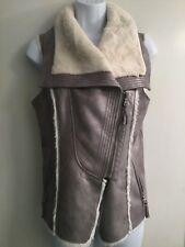 Womens Guess Grey/Silver Fur Lined Vest Sz XS EUC
