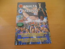 PROGRAMME OFFICIEL MALTE FRANCE 16/10/2002