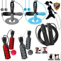 Adjustable Ropeless Jump Rope & Counter Jump Rope Speed Skipping Gym Exercise US