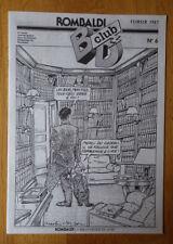 ROMBALDI BD CLUB N°6 deuxième série fevrier 1987 TBE