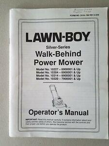 LAWN-BOY Operator's Manual Silver Series Models 10227 10304 10314 10320