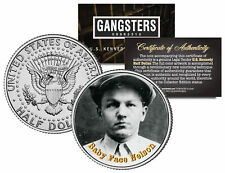BABY FACE NELSON Gangster Bank Robber JFK Kennedy Half Dollar US Colorized Coin