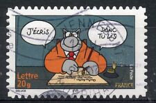 STAMP / TIMBRE FRANCE OBLITERE N° 3828 SOURIRE / LE CHAT / DE P. GELUCK