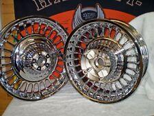 Harley Davidson Knuckles 28 spoke Chrome Wheels '09 to '18. EXCHANGE SALE