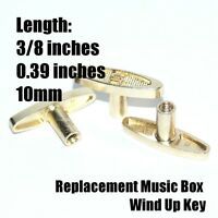 3/8 Inch (10mm) Replacement Wind Up Key For Music Boxes - Lot Of 2 Keys