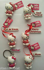 HELLO KITTY BAG TAG KEYRING FIGURINE - Various Designs Available - Key Rings