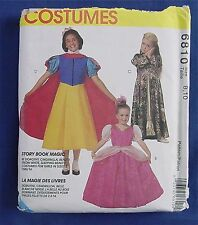McCall's 6810 Sewing Pattern UNCUT Story Book Princess Snow White Dorothy